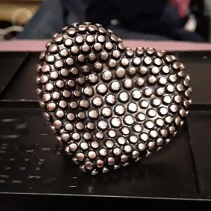 Large fashion heart ring